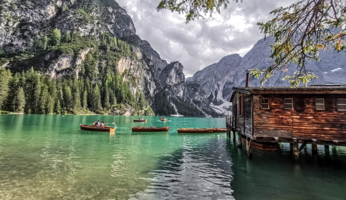 Idyllic Lake Braies in the Dolomites